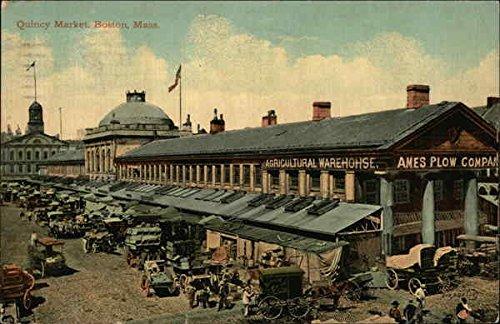 Quincy Market Boston, Massachusetts Original Vintage Postcard