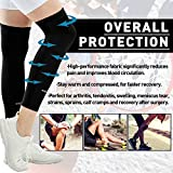 COOLOMG 1PC Compression Leg Sleeve Strech Leg Knee