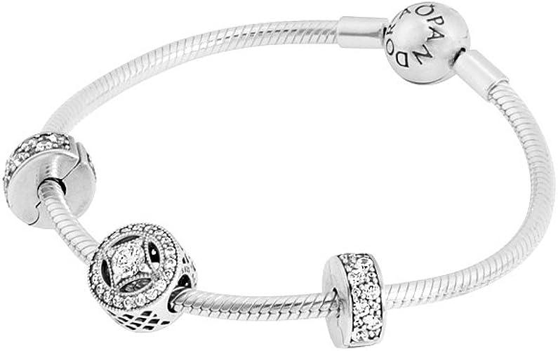 Pandora Usb796519 Elegance Bracelet Gift Set 7 5 Amazon Co Uk Jewellery