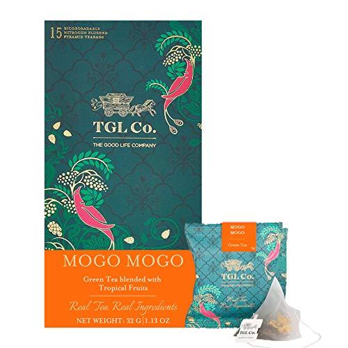 TGL Co. LUXURY TEAS Mogo Mogo Green Tea with Natural Fruits for Weight Loss, 16 Tea Bags