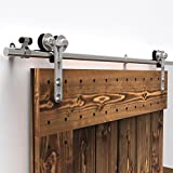 CCJH Y-Shaped Modern Stainless Steel Wooden and Glass Sliding Door Hardware Kit (10FT for Single Door)
