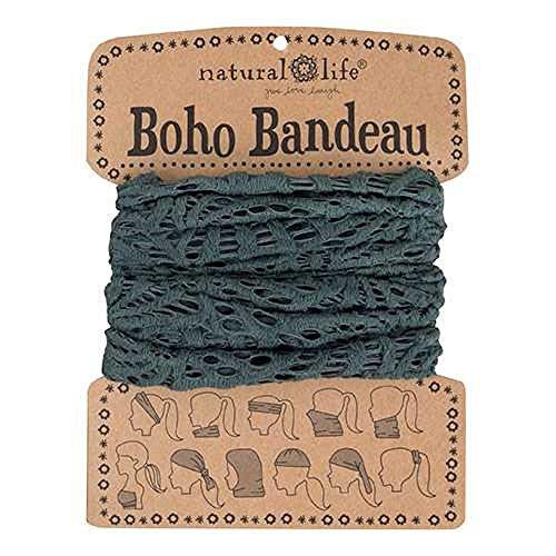 Natural Life Boho Bandeau Crochet, Grey