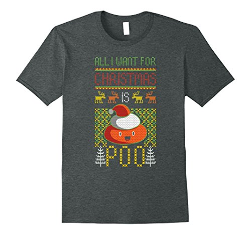 Mens Poop Emoji Christmas Shirt Poop Ugly Christmas Sweater Shirt XL Dark Heather (Top Favorite Christmas Songs)