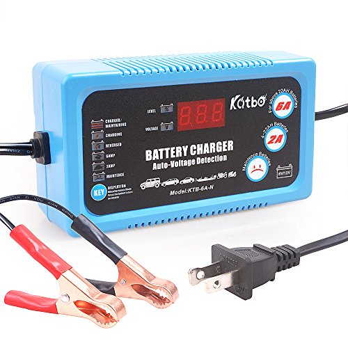 Katbo 6 Amp Smart Battery Charger 6V 12V Automatic and Manual