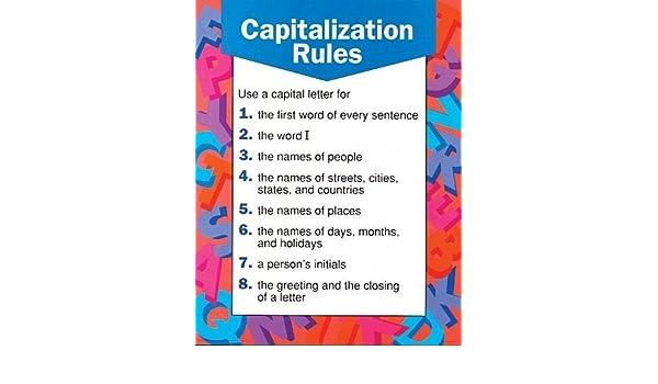 Capitalization rules cheap charts school specialty publishing capitalization rules cheap charts school specialty publishing 9780768212648 amazon books m4hsunfo