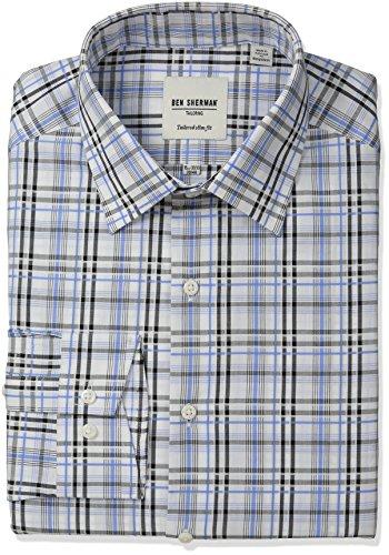 ben-sherman-mens-slim-fit-check-line-spread-collar-dress-shirt-black-blue-15-neck-32-33-sleeve