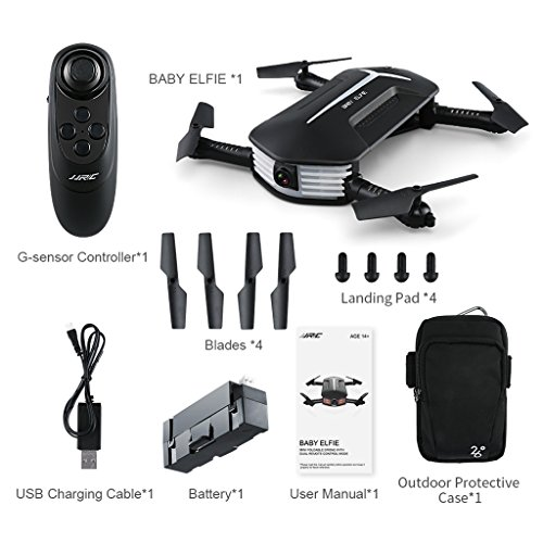 Price comparison product image Gigory JJRC H37 Mini RC Helicopter Drone 4CH 6 Axis WIFI FPV Selfie Camera Foldable for Drone Training