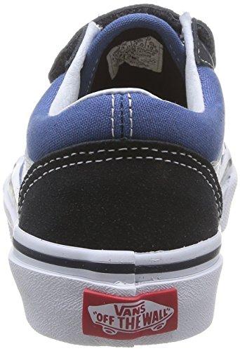 Vans OLD SKOOL V - zapatilla deportiva de lona infantil azul - Blau (Navy/True White NWD)