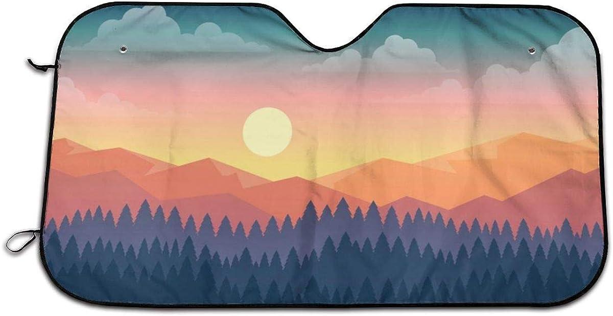 "Bargburm Light Trail Windshield Sunshade for Car SUV Truck(51"""" X 27.5"""") Foldable Uv Ray Reflector Front Window Sun Shade Visor Shield Cover"