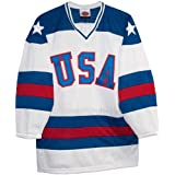 USA 1980 Olympic Miracle on Ice Home White Hockey Jersey (XL)