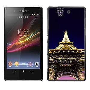 Paccase / SLIM PC / Aliminium Casa Carcasa Funda Case Cover - Architecture Eiffel Tower Paris - Sony Xperia Z L36H C6602 C6603 C6606 C6616