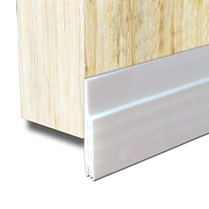Door Draft Stopper Door Bottom Seal Weather Stripping  BLENDX Under Door  Sweep Waterproof Weather Strip