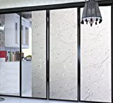 Bloss Iron Flower Etched Glass Static Window Clings Privacy Decorative ...