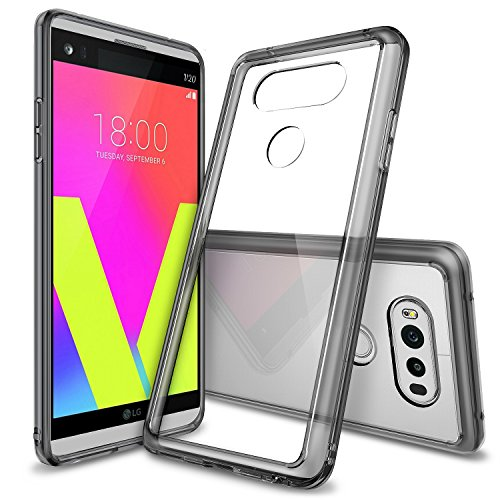 LG V20 Case, Ringke [Fusion] Clear PC Back TPU Bumper [Drop Protection/Shock Absorption Technology] Raised Bezels Protective Cover for LG V20 2016 - Smoke Black - Gray Smoke Crystal