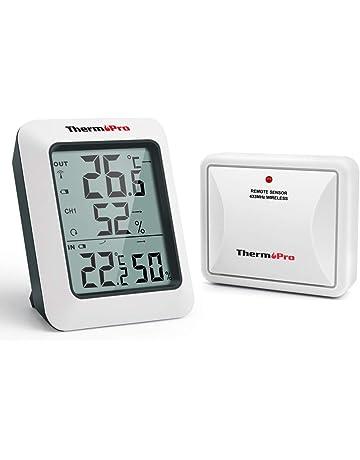 97d7348b8 ThermoPro TP60S Termometro Igrometro da Interno Esterno Misuratore di  Temperatura e Umidità Wireless Termoigrometro Digitale con