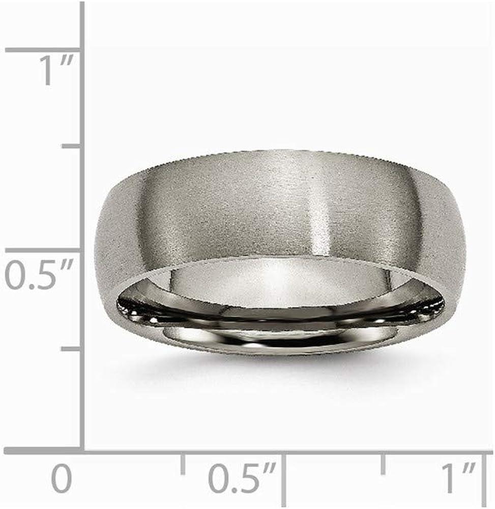 Titanium 7mm Brushed Band