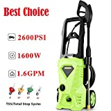Schafter Electric Pressure Washer, 2600 PSI 1.6GPM High Pressure Power Washer Professional Cleaner Machine with Nozzles and Spray Gun(US Stock) (Green)