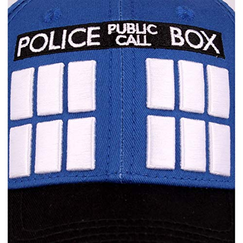 de de azul béisbol de Tardis algodón gorra Who serie Doctor U6YAqEwx