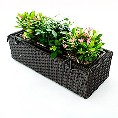 C-Hoptree Flower Succulent Planter Pot, Woven Wall Mounted or Hanging Planter Box for Home Decor