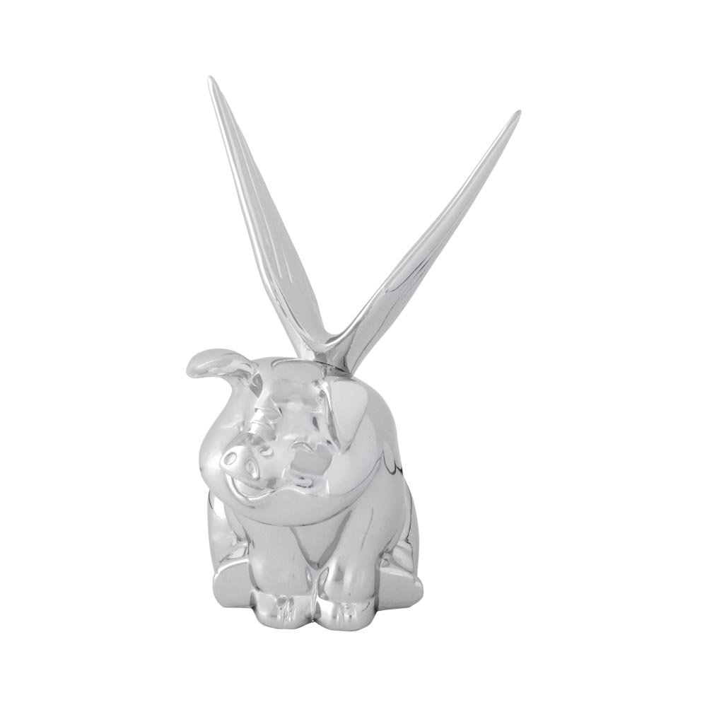 Grand General 48200 Chrome Smiley Pig with Wings Hood Ornament