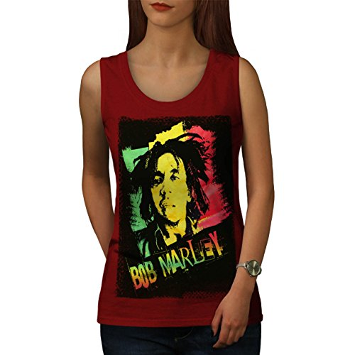 Wellcoda Marley Cannabis Bob Rasta Women Tank Top