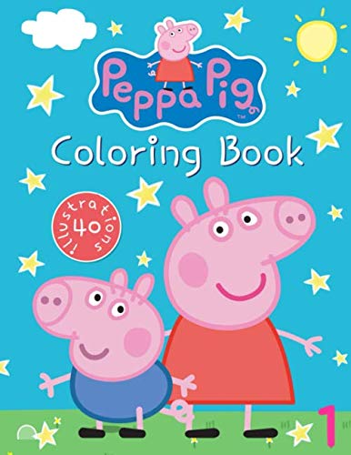 Peppa Pig Coloring Book: Great Coloring Book for Kids Ages 3-8, 40 Illustrations
