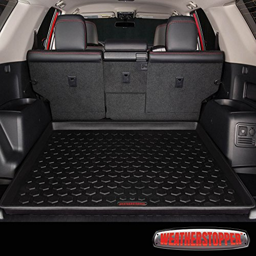 2011 - 2017 Toyota 4Runner Cargo Mat by WeatherStopper (GUARANTEED PERFECT FIT) Heavy-Duty All-Weather Trunk & Cargo Liner - 100% Weather Proof - Fits All 4 Runner Models Between 2011 - 2017 Weather Cargo Mats