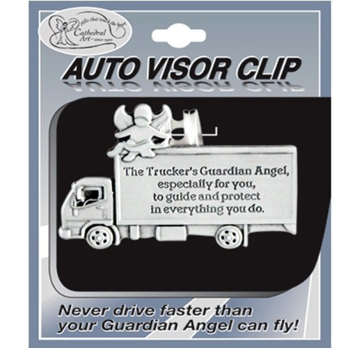 Pewter Auto Visor Clip for Truck Driver