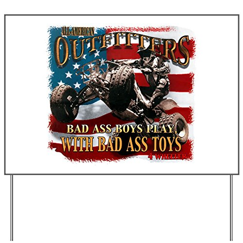 Yard Sign Bad Ass Boys Play Bad Ass Toys