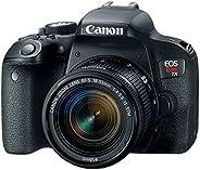 Câmera Canon DSLR EOS Rebel T7i kit Lente 18-55mm