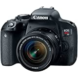 Canon EOS Rebel T7i DSLR Camera with 18-55mm Lens - Black (Certified Refurbished)
