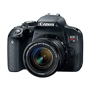 51Sn1wzpYmL. SS300  - Canon EOS Rebel T7i US 24.2 Digital SLR Camera with 3-Inch LCD, Black (1894C002)
