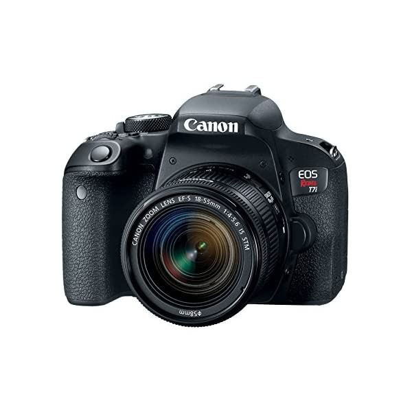 51Sn1wzpYmL. SS600  - Canon EOS Rebel T7i US 24.2 Digital SLR Camera with 3-Inch LCD, Black (1894C002)