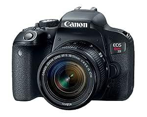 Canon EOS Rebel t7i Cuerpo, con 18-55mm, Negro