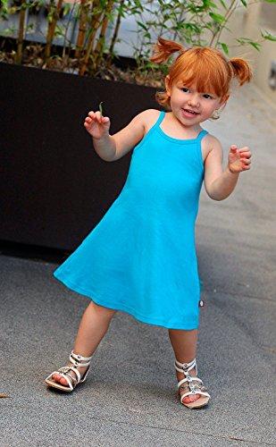 City Threads Big Girls' Summer Dress Cami Camisole Spaghetti Strap Maxi Slip No Sleeve Dress For Sensitive Skin or SPD Sensory Friendly, White w/ Ligh Pink Stitch, 7 by City Threads (Image #5)