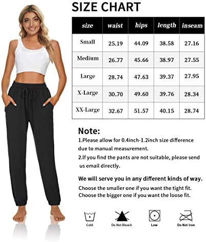 UEU Womens Yoga Joggers Pants High Waisted Loose Comfy Lounge Pants Cinch Bottom Casual Pants with Pockets 5