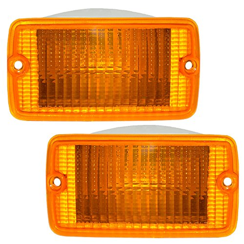 Driver and Passenger Park Signal Front Marker Lights Lamps Lenses Replacement for Jeep SUV 55157033AA 55156488AB