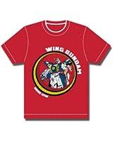 Wing Gundam Men Red T-shirt