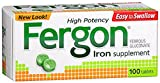 Fergon High Potency Iron Supplement Tablets 100 ea (Pack of 10)