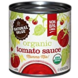 organic canned tomatoes bpa free - Natural Value Organic Tomato Sauce, 8 Ounce (Pack of 24)