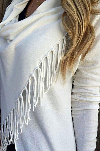 White Nappe Lunga Nimpansa Donne Manica Wrap Le Daily Solido Waterfull Cardigan UTqq6xv4tw