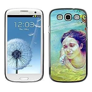 EJOY---Cubierta de la caja de protección la piel dura para el / Samsung Galaxy S3 / --Cute Girl Pintura Buceo