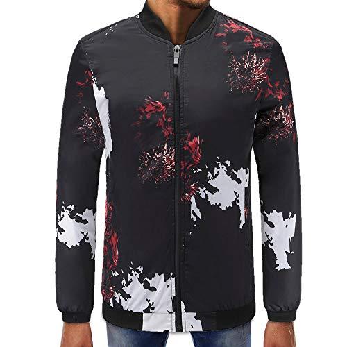 Mens Printed Zipper Pullover Long Sleeve Sweatshirt Tops Blouse
