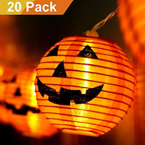 Halloween Decorations Sales - Jolik Pumpkin String Lights DIY Polyester