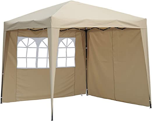 Angel Living Carpa Pop-Up Plegable 3 * 3m con 2 Lados de Telas ...