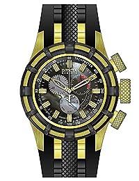 New Mens Invicta 20100 Reserve Bolt Swiss Chronograph Black Rubber Watch