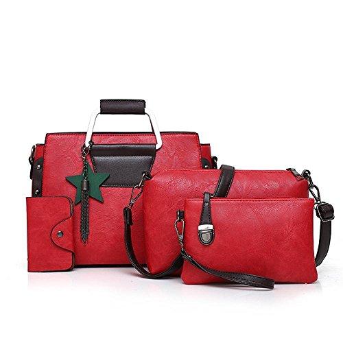 Aoligei La couleur Pure sac femme flow Suzi sac quatre morceaux d'épaule portable européenne et américaine E