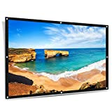"ELEPHAS Portable Projector Screen, 100""16:9 HD Rollable Anti-Crease Lightweight Projection Screen with Diffusion Reflection for Home Theater and Office Presentation"