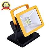 OYOCO Rechargeable LED Work Light with Magnetic Base 15W 6.5H Lighting Battery Powered Waterproof Spotlights Outdoor Camping Emergency Lights Floodlights with SOS Mode ( with magnetic base)