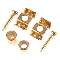Kmise A0125 1 Set String Tree Guide Retainer Body Custom Gold for Fender Strat Tele Replacement